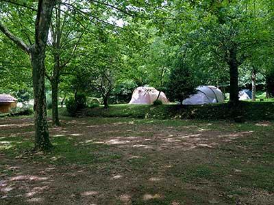 tendas en el camping